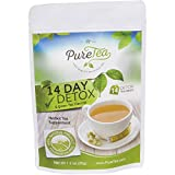 PureTea® Weight Loss Detox Tea: Green Tea, Skinny Tea, Body Cleanse, Herbal Tea Detox Diet, Teatox, 100% Organic Herbs, Lose Weight Fast, Liver and Colon Cleanse