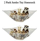 2 pack Jumbo Toy Hammock Net Organizer for decorating or storing Stuffed Animals etc