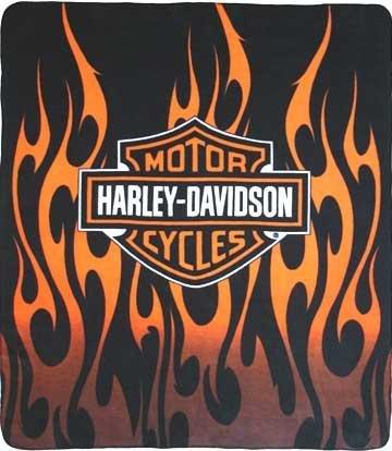 Harley Davison Fleece Blanket