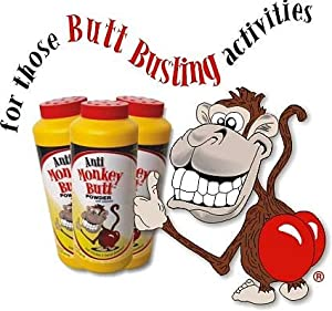 Anti-Monkey Butt Powder Anti-Friction Plus Sweat Absorber (3 pack)