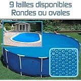 Linxor France ® Bâche à bulles ronde ou ovale 180 microns pour piscine intex ou autre... / 9 tailles disponibles / Norme CE