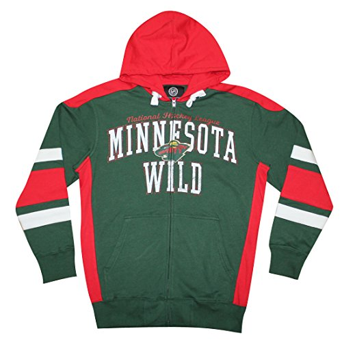 MINNESOTA WILD Mens Zip-Up Hoodie / Jacket