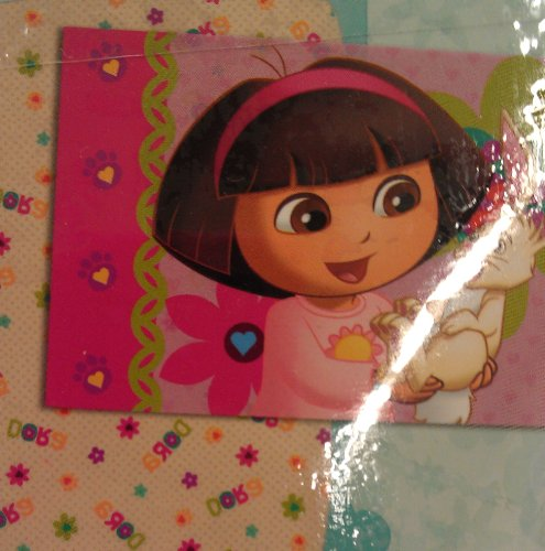 Dora the Explorer 2 Piece Toddler Fitted Sheet & Pillowcase - Fits a Crib or Toddler Mattress Only!