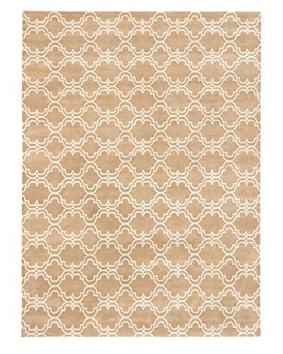Handmade Eden Wool Rug, Cream/Khaki, 9' x 12'