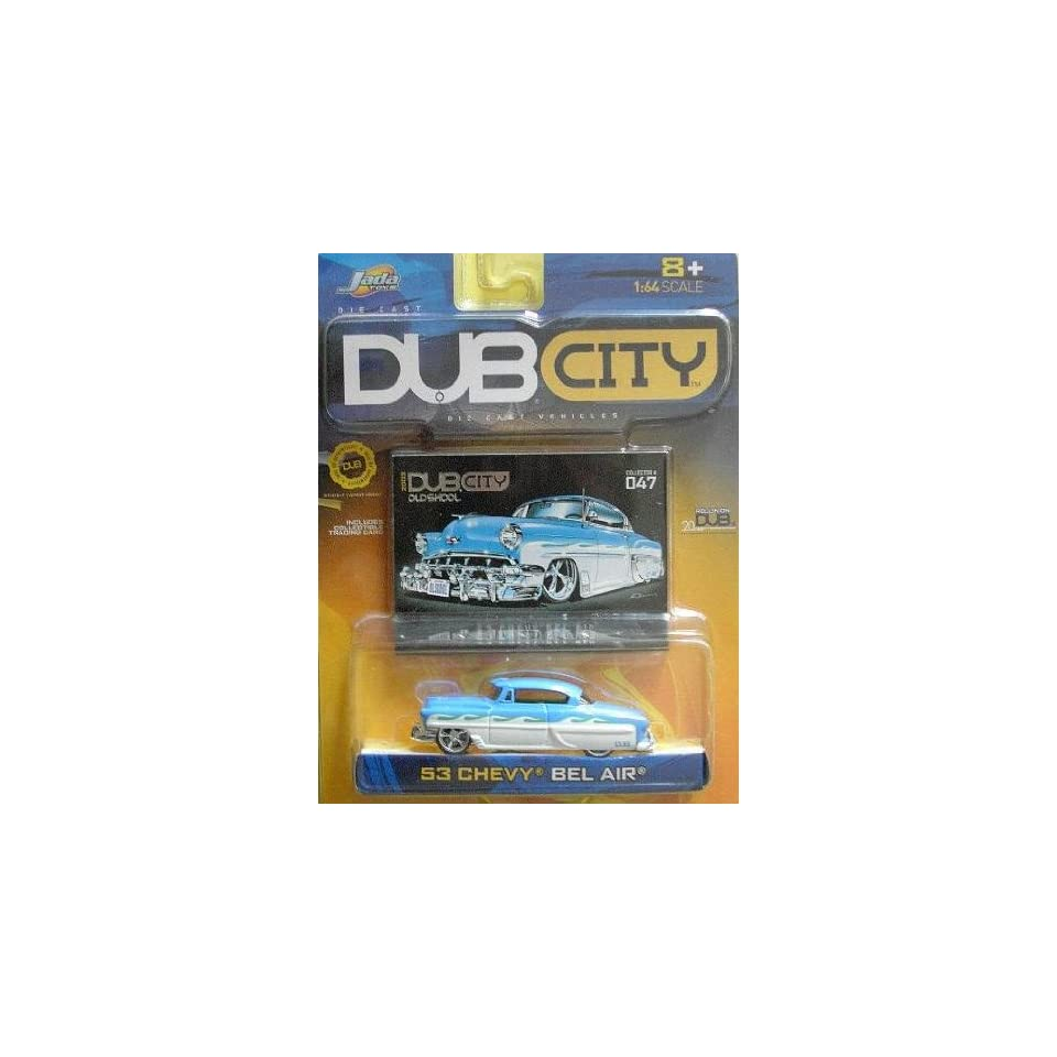 Jada Dub City 1953 White and Blue Chevy Bel Air 164 Scale Die Cast Car