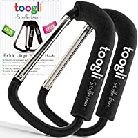X-Large Stroller Hook Set for Mommy By Toogli. Two Great Organizer Accessories for Hanging Diaper & Shopping Bags & Purses. Clip Fits All Single and Twin Travel Systems & Baby Joggers.100% Guaranteed by Toogli baby products