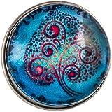 Morella Damen Click-Button Wunder Baum hellblau türkis