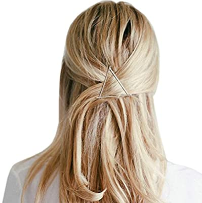 Joyci 2pcs Hollow Triangle Lip Hair Pin Bobby Pin Headwear Hair Clip Women's Barettes