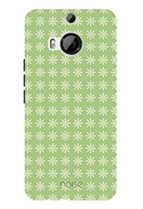 Noise Green Snowflakes Printed Cover for HTC One M9 Plus