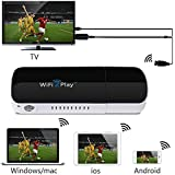 1byone® Wireless HDMI WiFi Dongle WiFi2Display Share Videos Images Docs Live Camera Musics from All Smart Devices to TV, Monitor or Projector