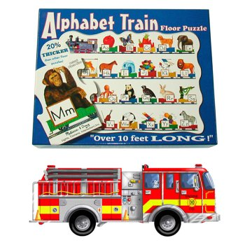 Cheap Melissa & Doug Alphabet Train and Giant Fire Truck Floor Puzzle Assortment (B000262GW2)