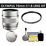 Olympus M.Zuiko Digital ED 75mm f/1.8 Lens W/ Lens Cap + UV Filter + Accessory Kit