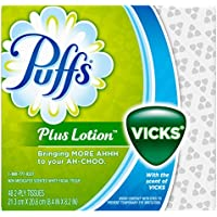 24 Pack Puffs Plus Lotion with the Scent of Vicks Facial Tissues (48 Count)