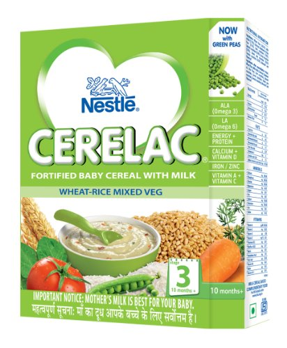 Nestle Cerelac Infant Cereal With Milk - Wheat-Rice Mixed Vegetable (300 G)