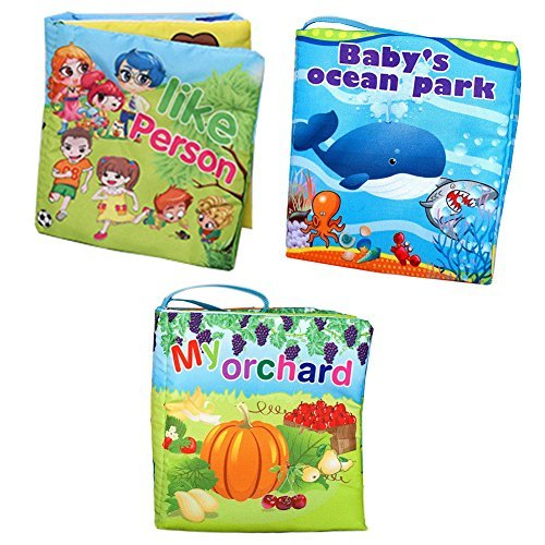Agooding-Nontoxic-Soft-Cloth-Baby-Books-Set-of-3-Bright-Color-Pictures-for-Boys-or-Girls-visual-Learningexpression-Keepsake