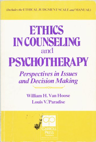 issues and ethics in counselling lesbian Ethical issues in community interventions 1992 a discussion of the concept of self in law, and how that affects issues of ethics and confidentiality.