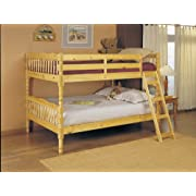 ACME 02290 Homestead Full Bunk Bed Natural Finish