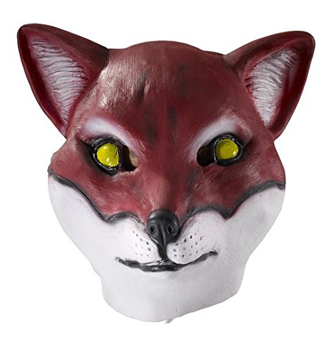 Adult Latex Red Fox Mask Wild Animal Halloween Costume Accessory