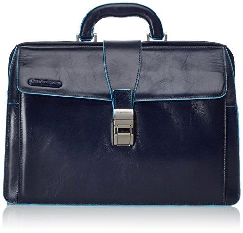 Piquadro Blue Square Borsa Dottore, Pelle, Blu Notte, 36 cm