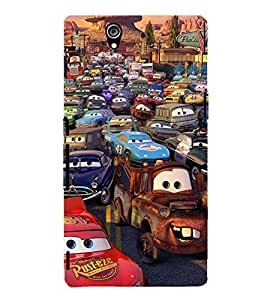 Printvisa Animated Human Cars Back Case Cover for Sony Xperia Z::Sony Xperia Z L36h