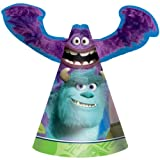 Monsters University Happy Birthday Party Cone Hats-8 count