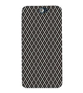 Black Color Net Pattern 3D Hard Polycarbonate Designer Back Case Cover for HTC One A9