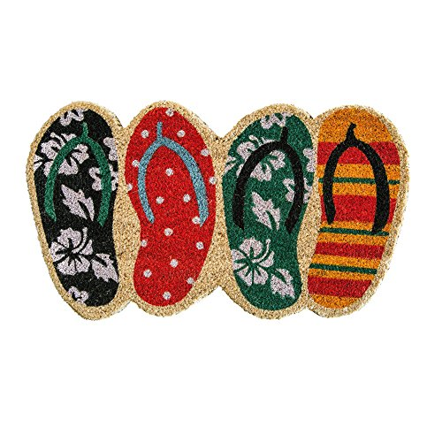 Flip Flop Shaped Coir Fiber Welcome Door Mat