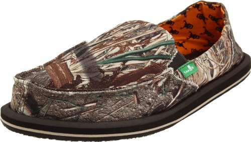 Sanuk Women's Vagabond Mossy Oak Slip-On Loafer,Duck Blind,9 M US