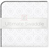 SwaddleDesigns Ultimate Receiving Blanket, Sterling Sparklers