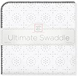 SwaddleDesigns (スワドルデザインズ) :: 究極のおくるみ ブランケット 毛布 SD-420 :: Ultimate Swaddle Sterling Sparklers :: One Size :: ワンサイズ :: 品質保証