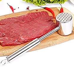 New Hot Sale Stainless steel Aluminum Meat Hammer Mallet Tenderizer Beef Chicken Steak Porks Drop Shopping