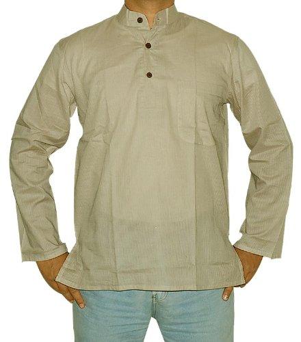 Indian Boho Mens Casual Cotton Short Kurta Size XL