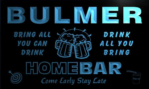 q06018-b-bulmer-family-name-home-bar-beer-mug-cheers-neon-light-sign