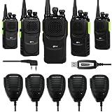 5 x Baofeng Pofung GT-1 UHF 400-470MHz FM Two-way Ham Radio Green (LOT 5) + 1 x Programming Cable + 5 x Speaker Mic