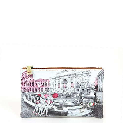 Y NOT? donna beauty case F-341 PINK GIRL ROMA UNICA Stampa-Cuoio