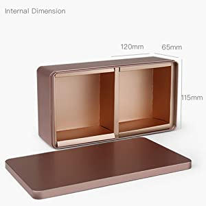 Tianhui Classic Box Rectangular Gold Empty Tin Box Containers, Gift, Jewelry and Storage Tin Kit, Home Organizer (Gold, M) (Color: Gold, Tamaño: M)