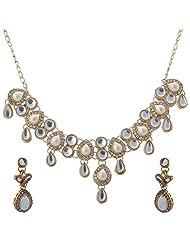Vivanka Jewels Designer Gold Plated Kundan Necklace Set - B00MS4XVX4