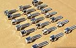 Mercedes-Benz chrome lug bolts: 12 x 1.5 (39mm) – set of 20