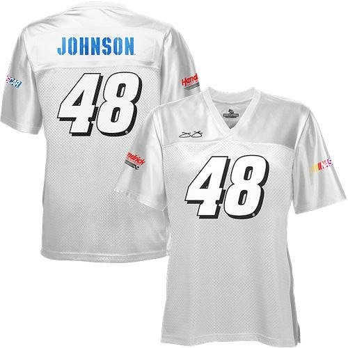 Jimmie Johnson Ladies Over the Wall Jersey - White