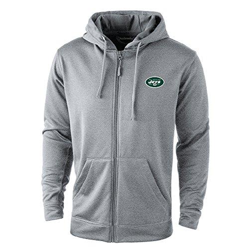 New York Jets Youth Heavyweight Full Zip Hooded Jacket - Green/Black