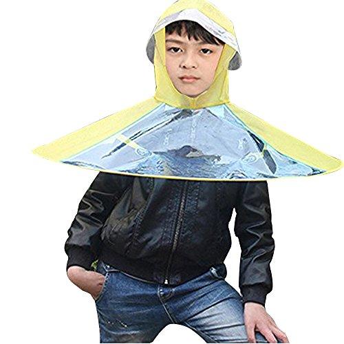 eizur-portable-ufo-kinder-faltbare-regenschirm-mutze-elastisches-kappe-hut-kopfdeckung-angelschirme-