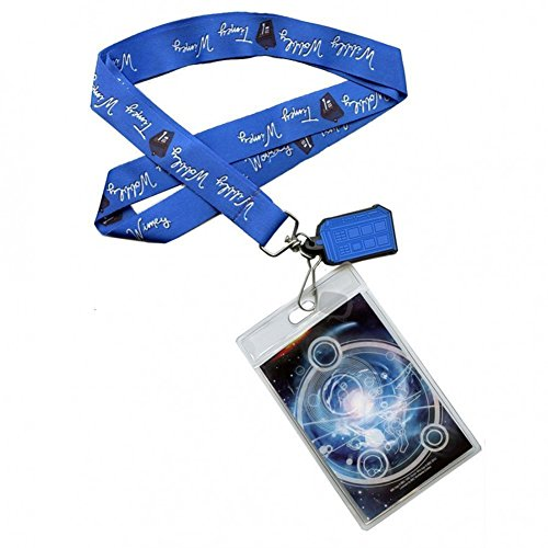 Doctor Who Timey Wimey Blue Lanyard with 3-D TARDIS Charm by Underground Toys