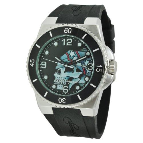 Ed Hardy Men's FU-SK Fusion Silver Watch