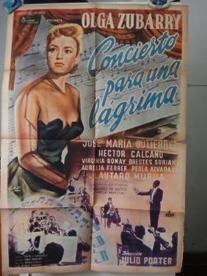 Original Argentine Movie Poster Concierto Para Una Lagrima Olga Zubarry Julio Porter
