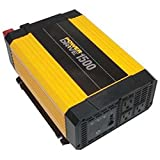 PowerDrive RPPD1500 1500-Watt DC to AC Power Inverter with USB Port and 3 AC Outlet (Color: Yellow/Black)