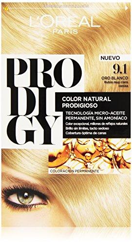 L'Oreal Tintura per Capelli, Prodigy Coloración Permanente, 200 gr, 9.1-Oro Blanco
