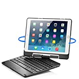 iPad Air 2 Keyboard Case - iPad Air Keyboard Case - New Trent Airbender Star with Detachable Wireless Bluetooth Smart Keyboard for the Apple iPad Air iPad Air 2