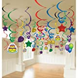 Balloon Fun Mega Value Pack Swirl Decorations (50) Party Supplies