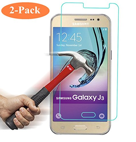 Galaxy J3 / Express Prime / Amp Prime Premium Tempered Glass Screen Protector, Asstar High Definition (HD) Touch screen 0.3mm 2.5D for Samsung Galaxy J3 / Express Prime / Amp Prime (2-PACK) (Bottle Opener Phone Charger compare prices)