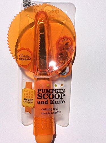 Sweet Creations 04835 Pumpkin Scoop and Knife, Orange
